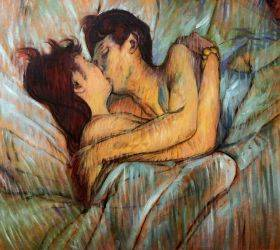 In Bed The Kiss