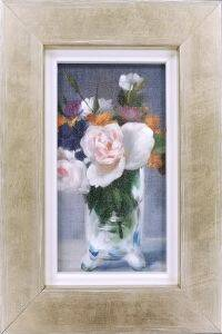 Flowers in a Crystal Vase Pre-Framed Miniature