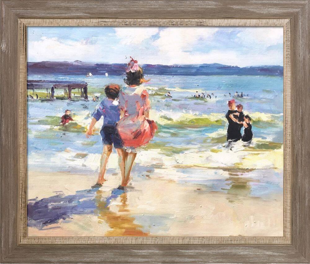 At the Seashore Pre-Framed