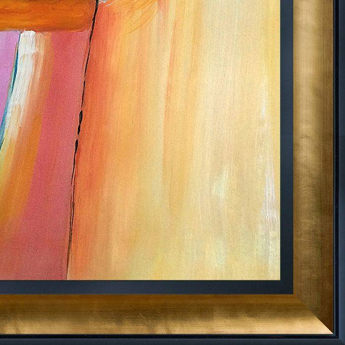 An Abstract Composition Reproduction Pre-Framed