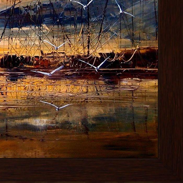 Harbour by Justyna Kopania Pre-Framed Canvas Print
