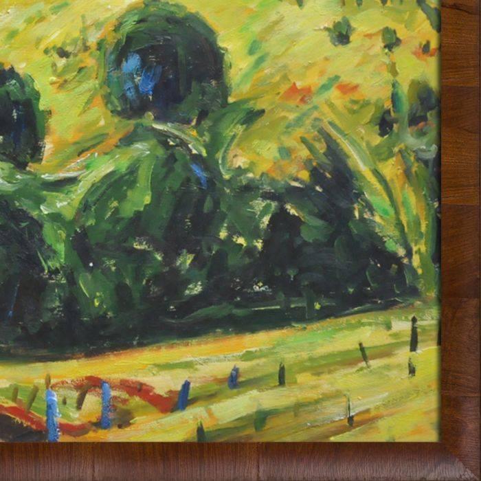 Fauve Landscape with Rolling Hills Pre-Framed