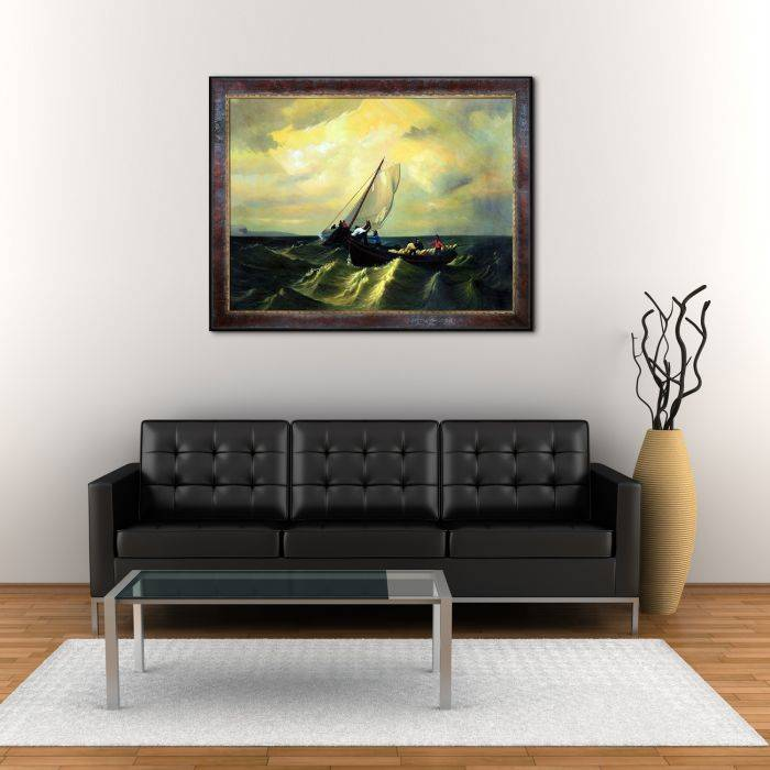 Fishing Boats on Bay of Fundy Pre-Framed