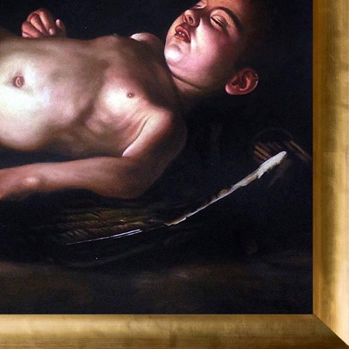 Sleeping Cupid Pre-Framed