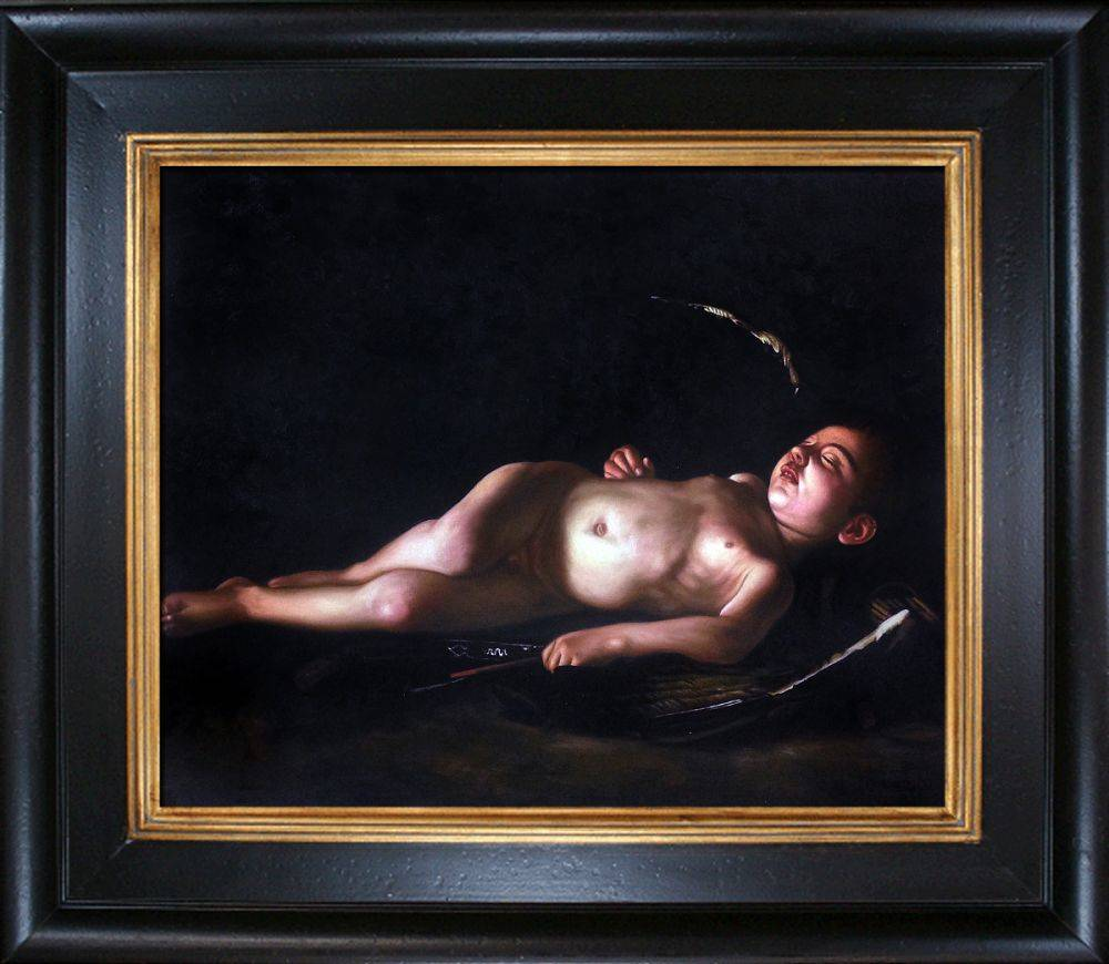 Sleeping Cupid, 1608 Pre-Framed