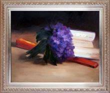 Bouquet Of Violets Pre-Framed