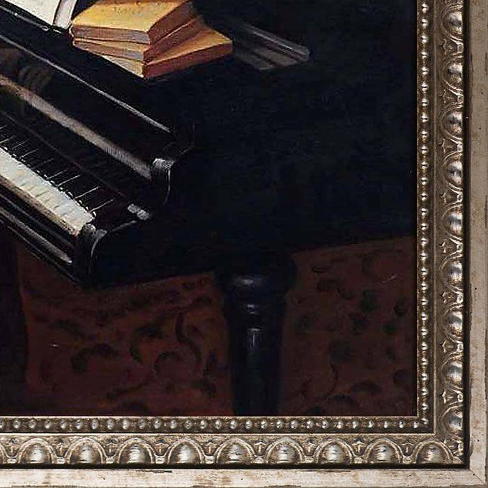 Young Man Playing the Piano Pre-Framed