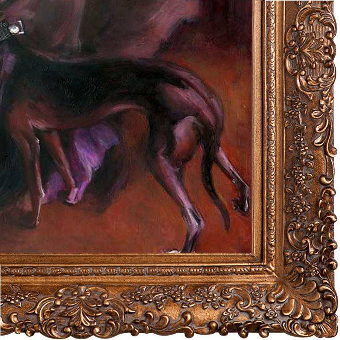 Portrait of the Marchesa Luisa Casati with a Greyhound, 1908 Pre-Framed