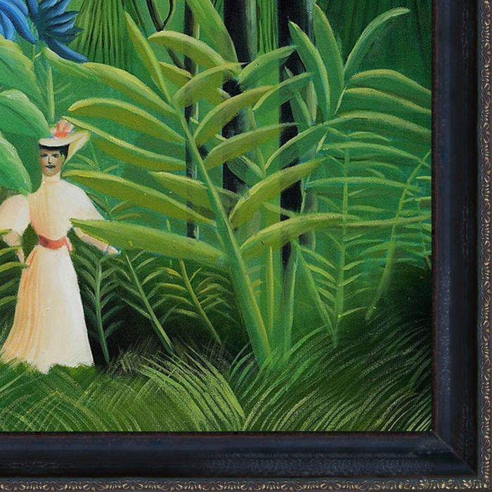 Woman Walking in an Exotic Forest Pre-Framed