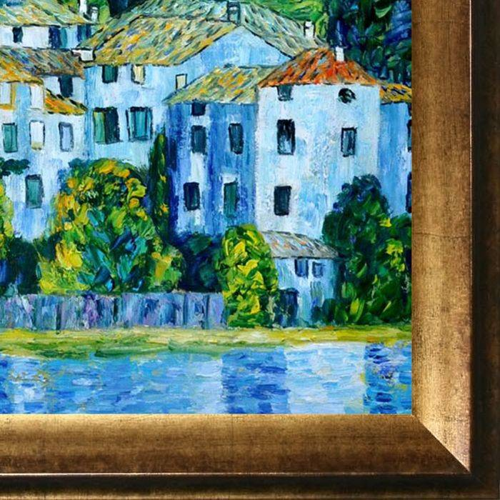 Church in Cassone (Landscape with Cypress) Oil Painting Pre-Framed