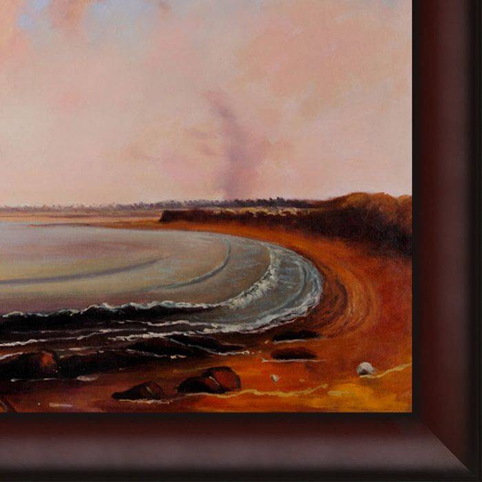 Shore Scene Point Judith Pre-Framed