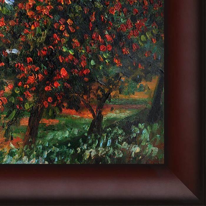 Apple Trees in Bloom at Vetheuil 1887 Pre-Framed