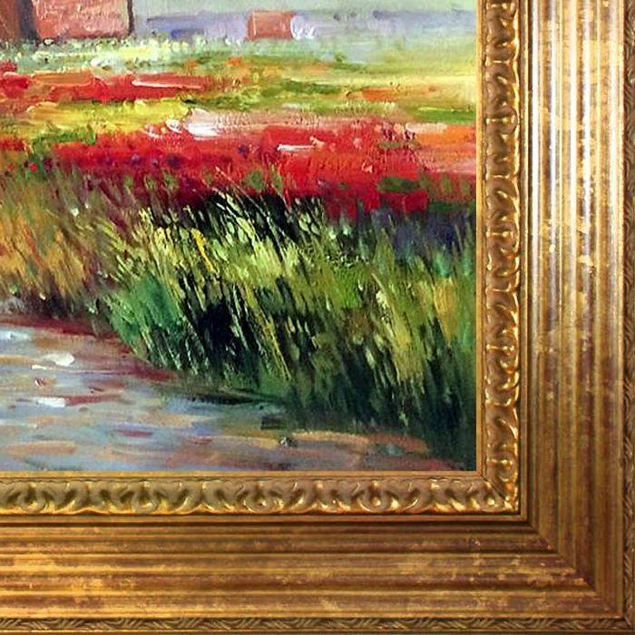 Tulip Field in Holland Pre-Framed