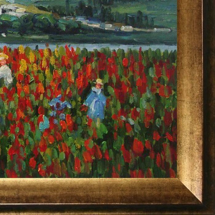 Poppy Field Near Vetheuil Pre-Framed