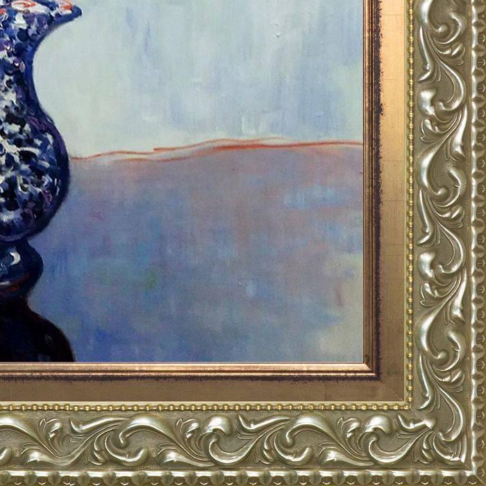Nasturtiums in a Blue Vase Pre-Framed
