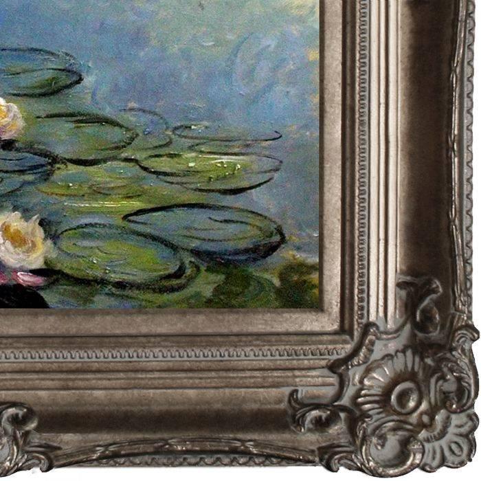 Water Lilies (Blue/Grey) Pre-Framed