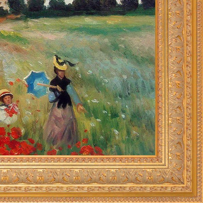 Poppy Field in Argenteuil Pre-Framed