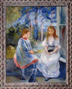 Little Girls at the Window Pre-Framed