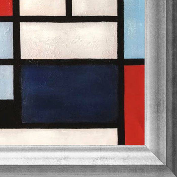 Composition with Large Red Plane, Yellow, Black, Gray and Blue Preframed