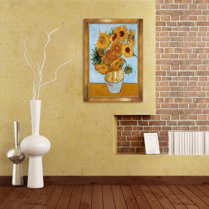 Sunflowers with Vienna Gold Leaf Frame