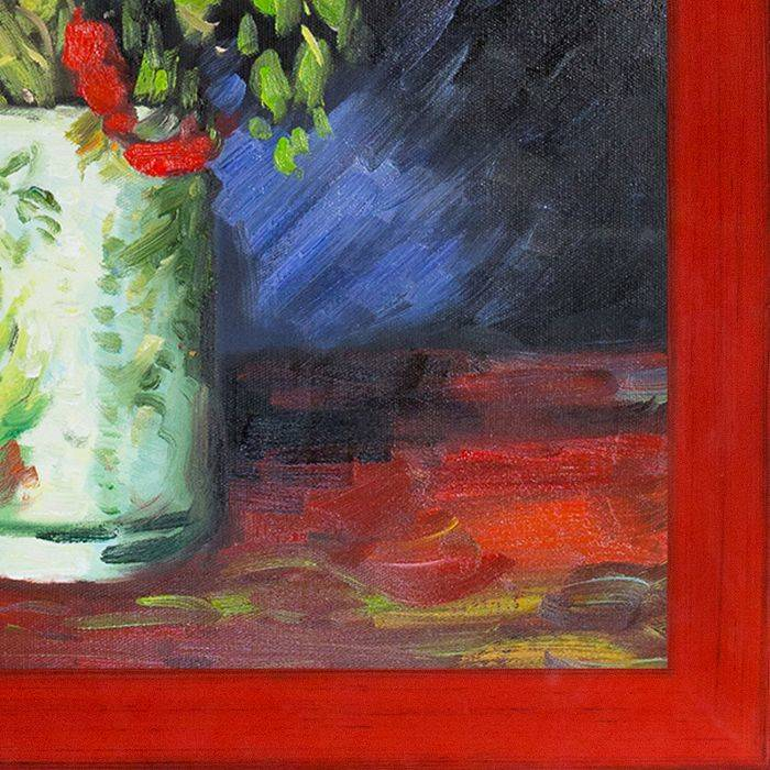 Vase with Red Poppies, 1886 Pre-Framed