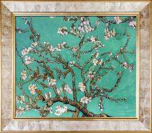 Branches Of An Almond Tree In Blossom - Jade Pre-Framed