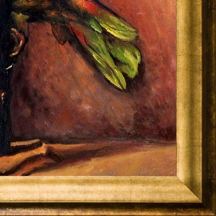 The Green Parrot Pre-Framed