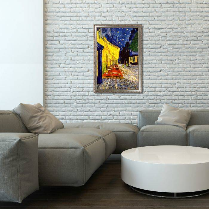 Cafe Terrace at Night (Luxury Line) Pre-Framed