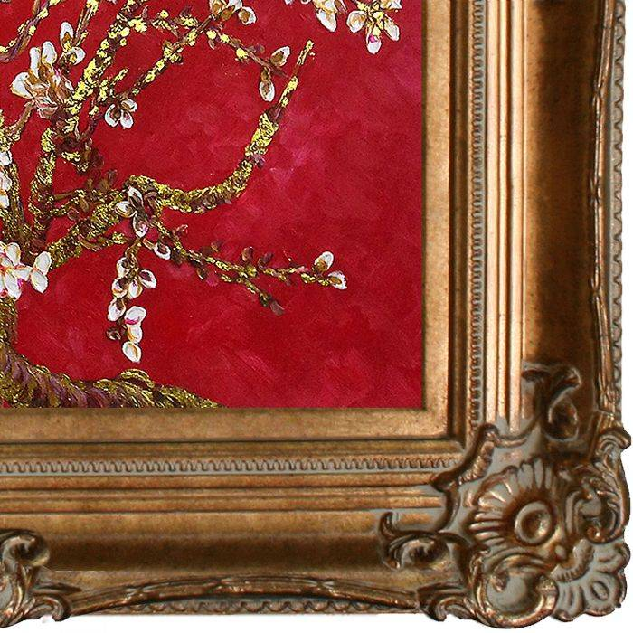Branches of an Almond Tree in Blossom, Ruby Red (Luxury Line) Pre-Framed