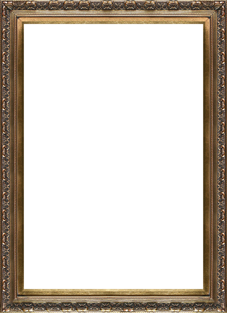 baroque antique gold frame 24x36