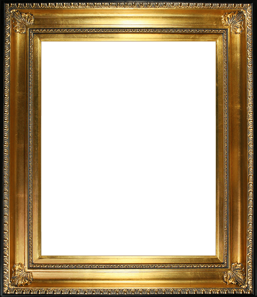 Regency Gold Frame Gold Finish With Black Edge Canvas Art Reproduction Oil Paintings