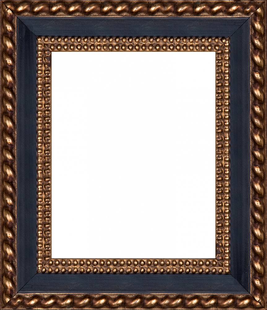 "Verona Black/Gold Braid 8""X10"""
