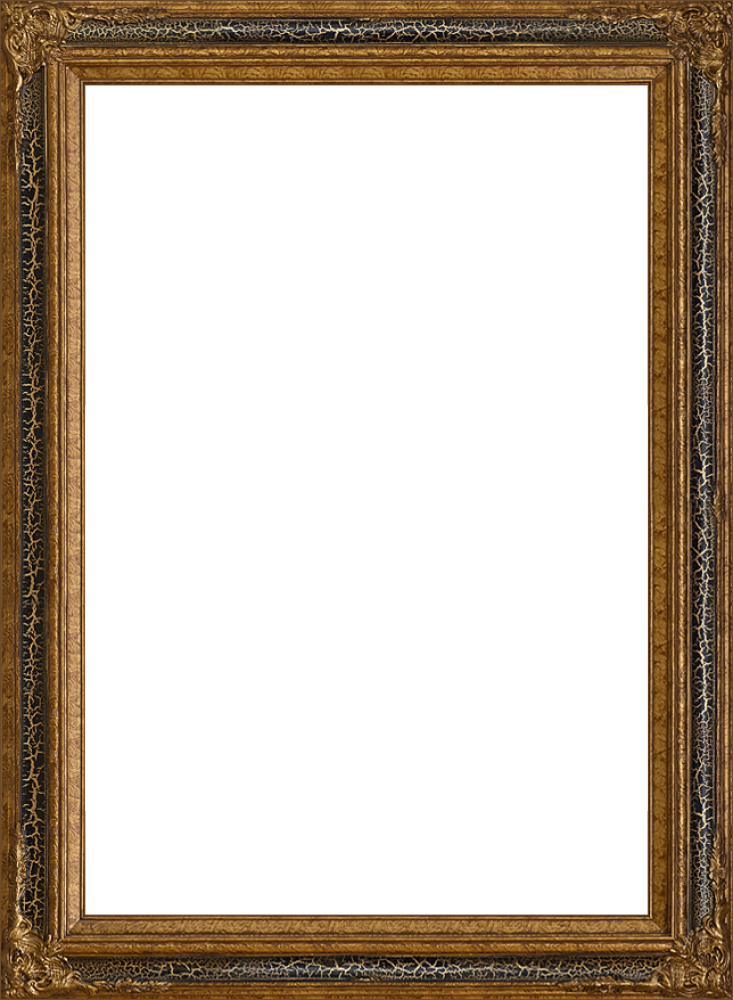 Black Crackle King Frame 24