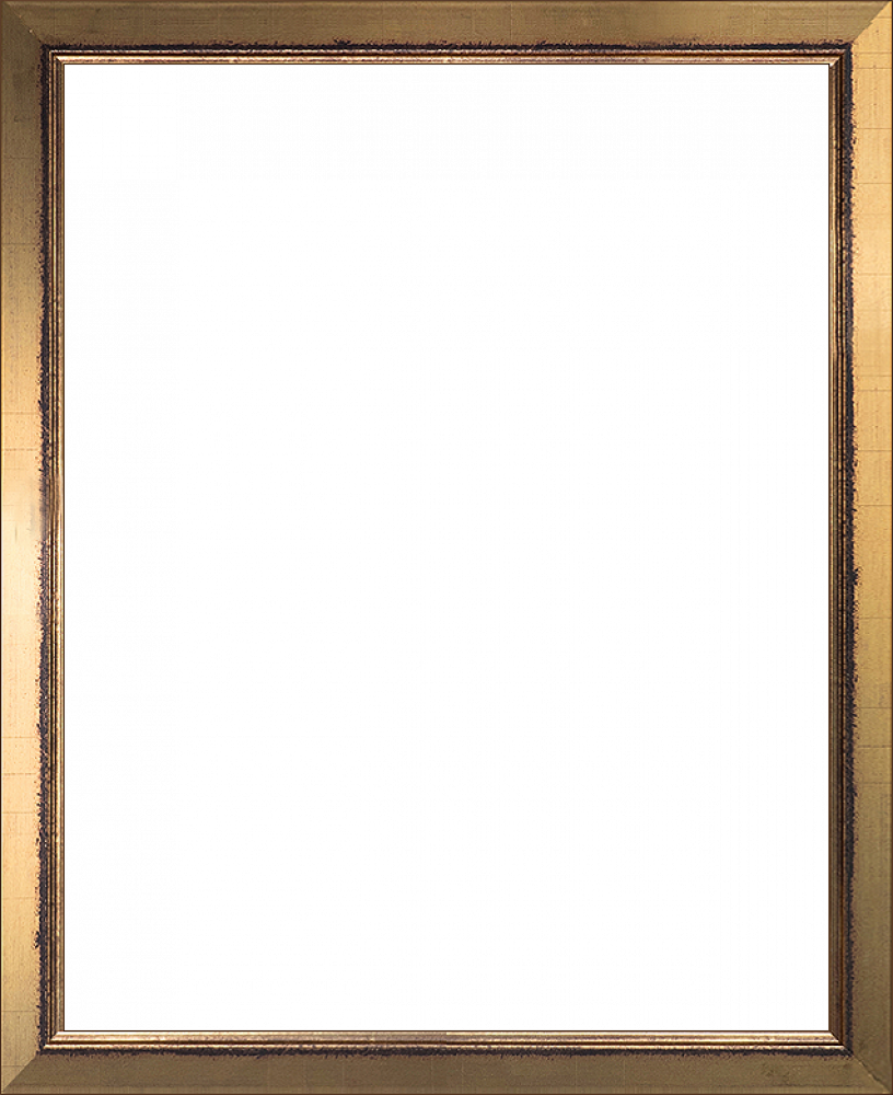 Wall Art: Burnished Gold Frame - Gold Finished Wood