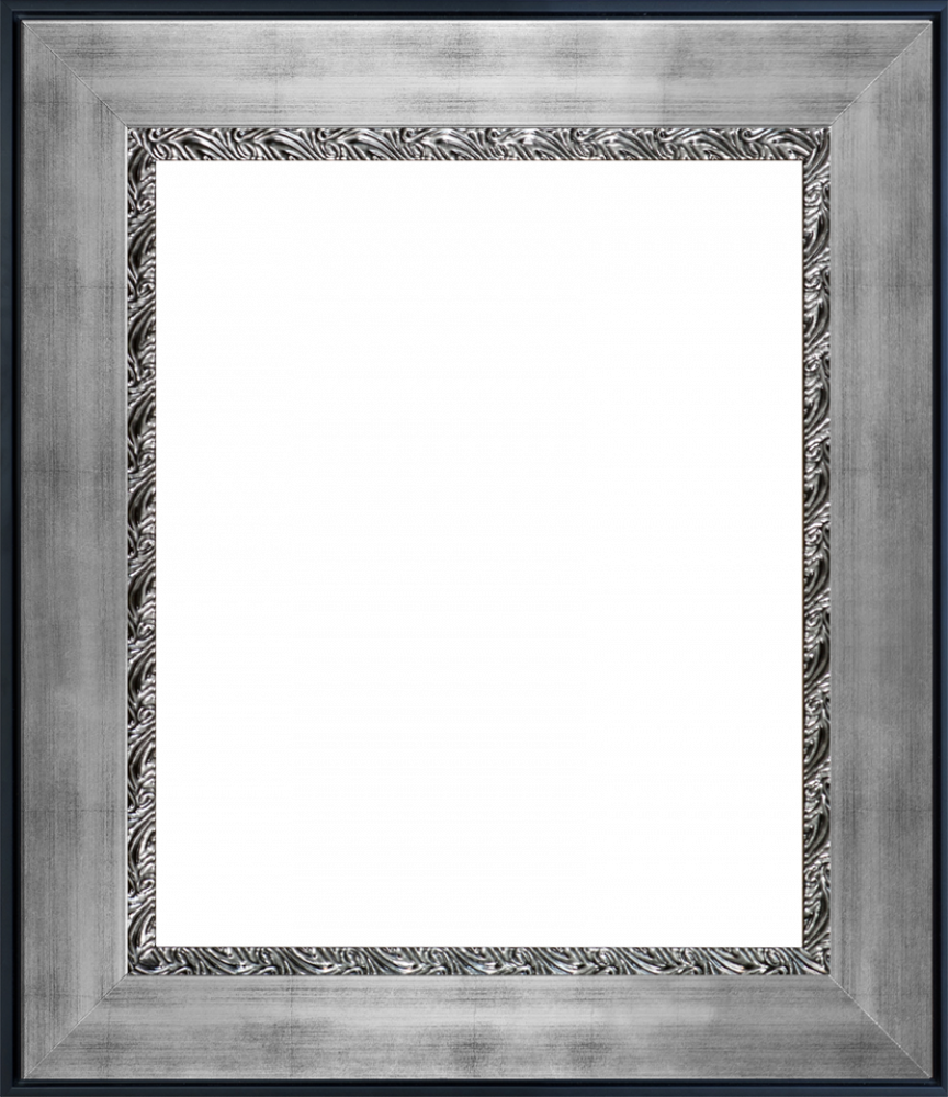 "Ornate Silver King Custom Stacked Frame 20"" X 24"""