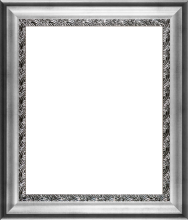Athenian Silver Wave Custom Stacked Frame Antique Silver Finish