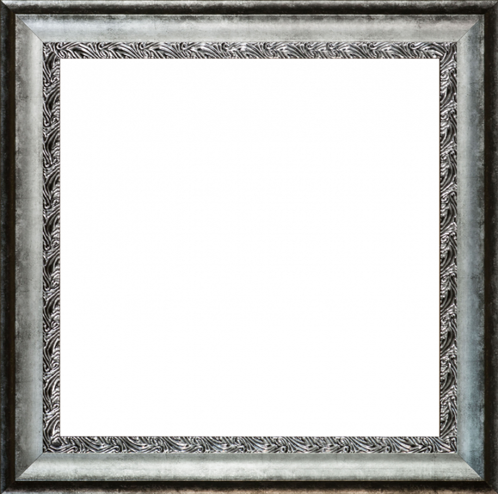 Distressed Ornate Silver Custom Stacked Frame 24