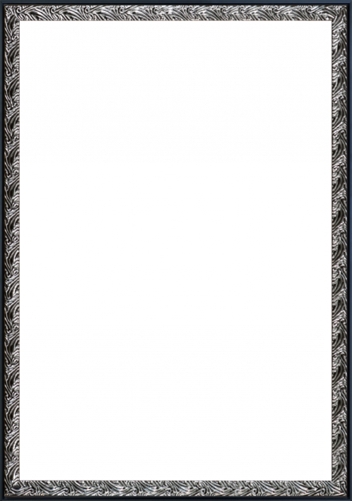 Ornate Silver and Black Custom Stacked Frame 24
