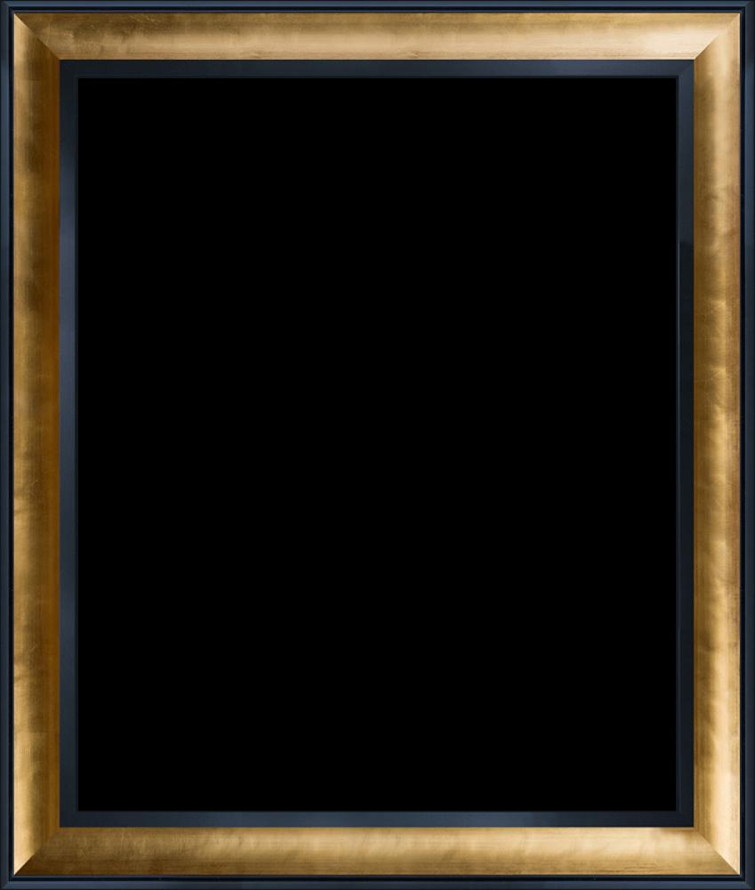 "Gold Luminoso and Black Custom Stacked Frame 20"" X 24"""
