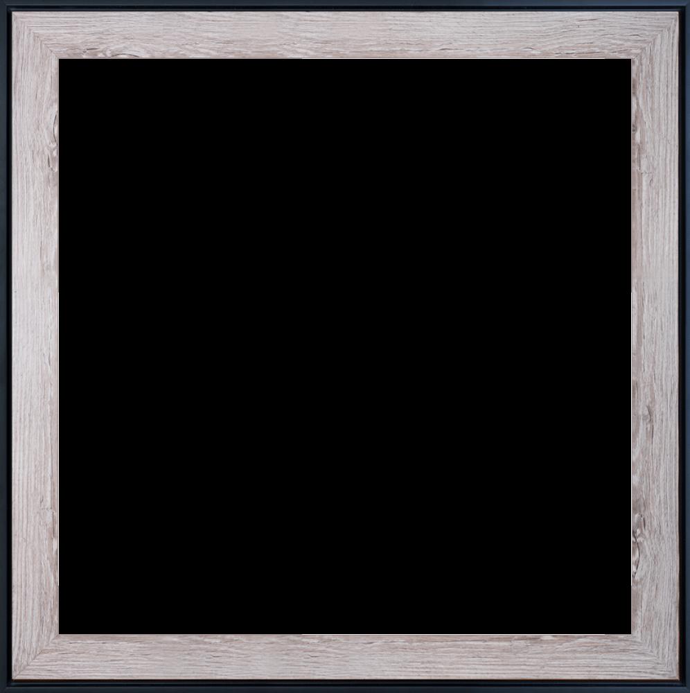 Nantucket Whitewash and Black Custom Stacked Frame 24