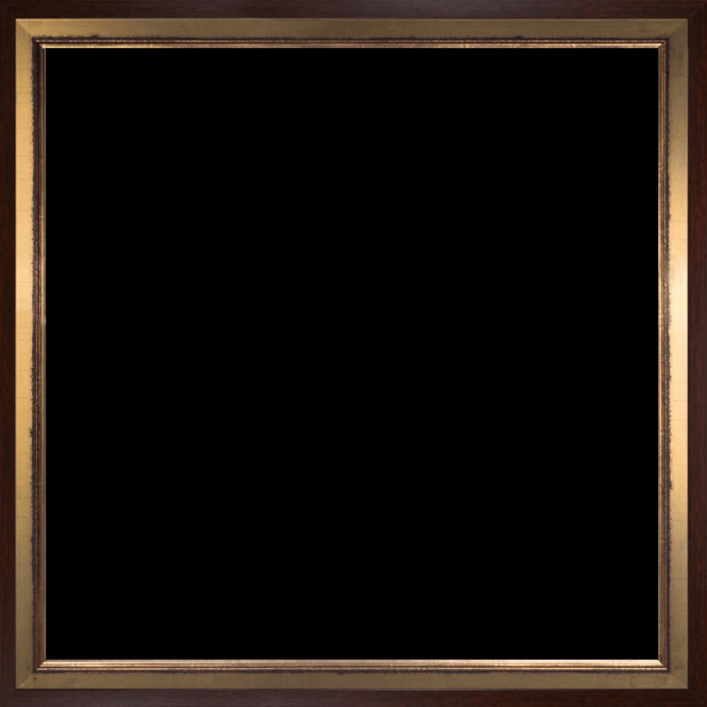 Burnished Gold and Studio Walnut Wood Custom Stacked Frame 24