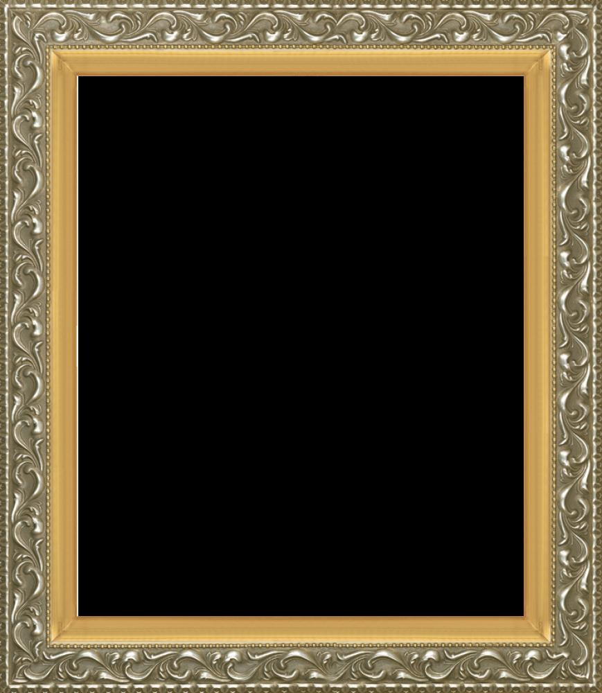 Rococo Silver and Piccino Luminoso Custom Stacked Frame 20