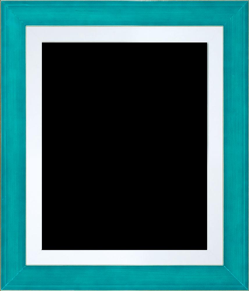 "Jubilee Blue with Studio White Custom Stacked Frame 8"" X 10"""