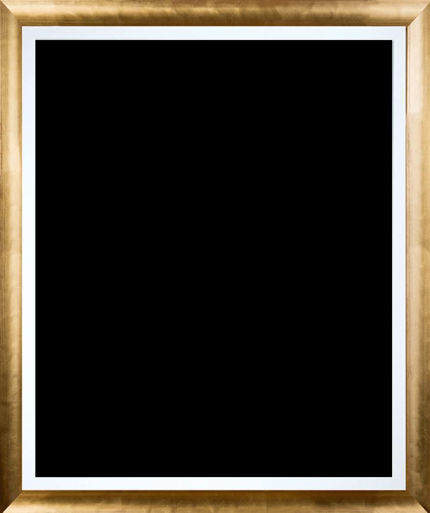 Gold Luminoso with Studio White Custom Stacked Frame 20