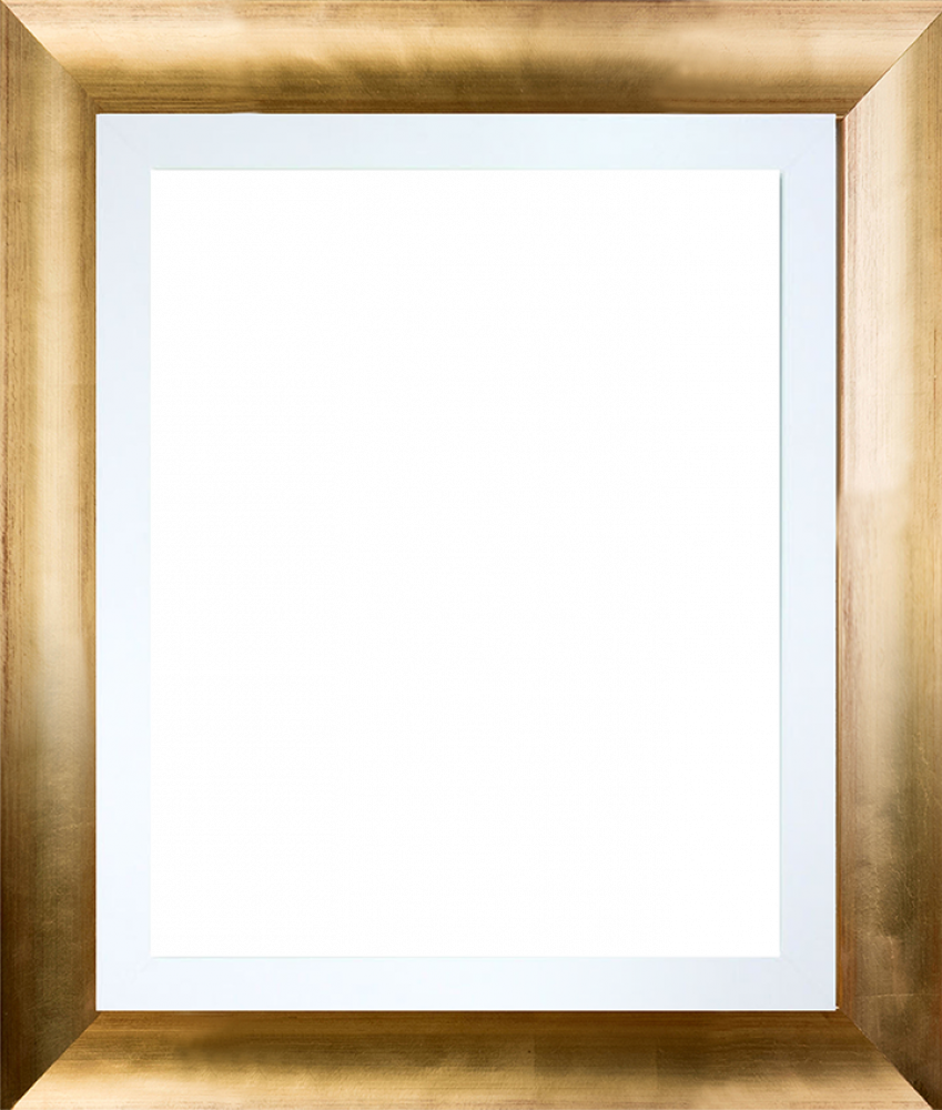 Gold Luminoso with Studio White Custom Stacked Frame 8