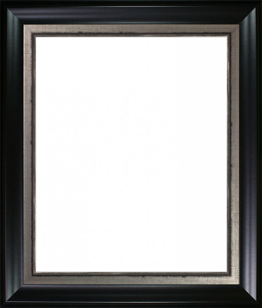 Black Matte and Burnished Silver Custom Stacked Frame 20