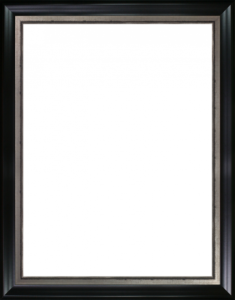 Black Satin and Burnished Silver Custom Stacked Frame 30