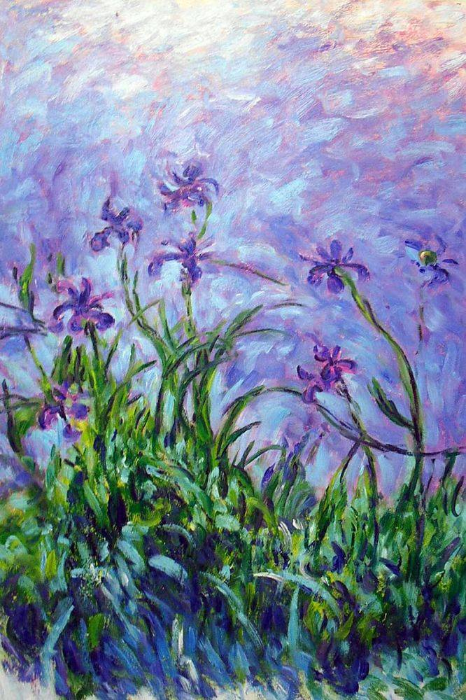 Claude Monet Lilac Irises Hand Painted Oil Painting On