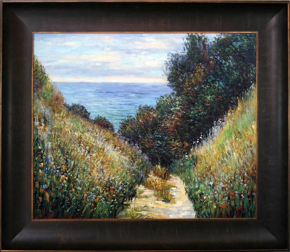 Chemin De La Cavee Pourville Pre-Framed