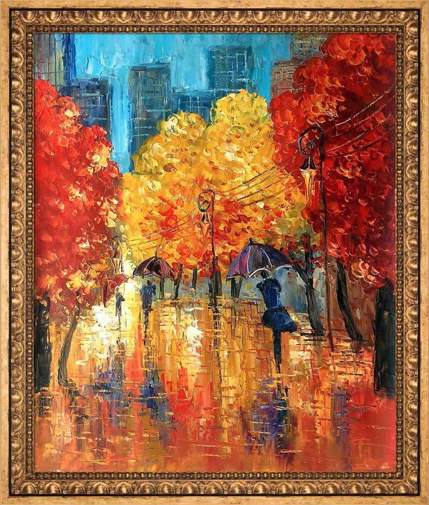 Autumn (Umbrellas) Reproduction Pre-Framed